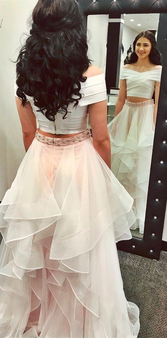 84c08b867e1 two piece prom dress