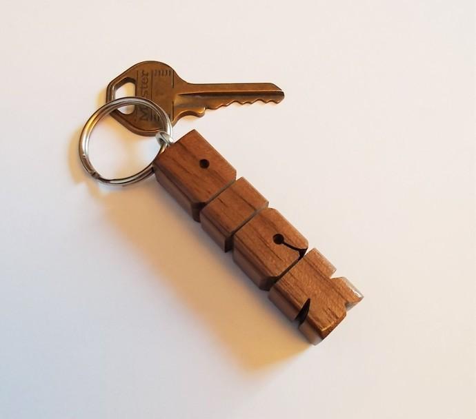 DICK - Sample Name Keychain in Walnut Wood