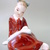 Vintage HUNGARIAN porcelain figurine,little girl with picture book,handpainted