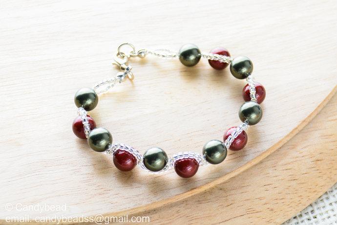 Swarovski Bracelet;Crystal Bracelet;Glass Pearl Bracelet, Swarovski Pearl