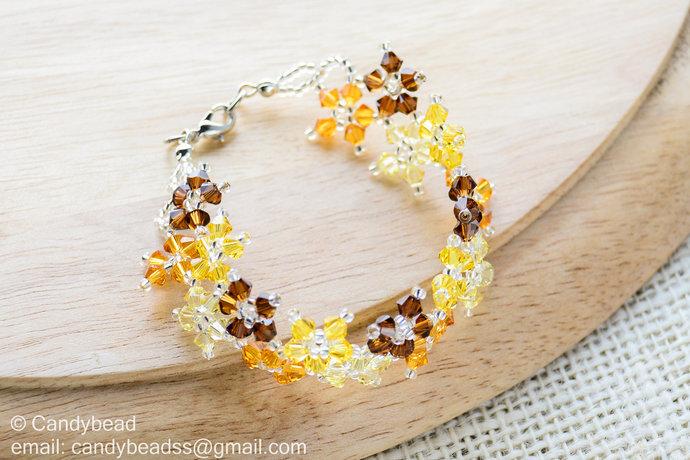 Sale Size 7-8 inches, Crystal Bracelet; Swarovski Bracelet; Glass Bracelet;