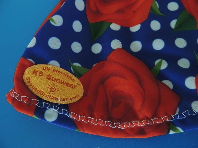MEDIUM Rosy Dot K9 Sunwear UV protective dog shirt