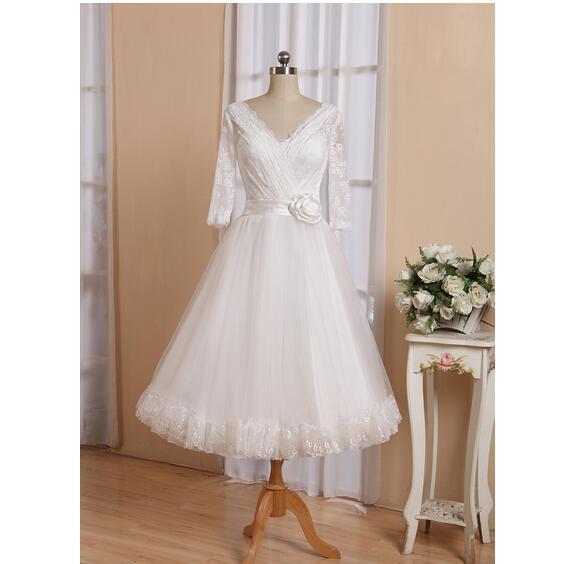 2c7de62b81e 50s Wedding dress Lace Top Tulle Skirt Lace Scalloped edge at Skirt Hem Tea