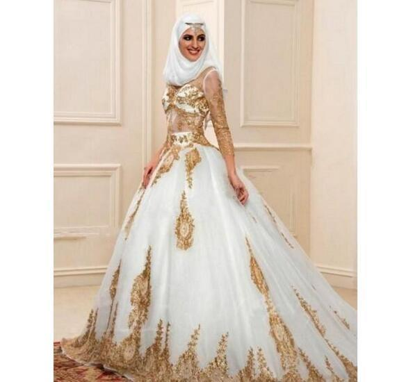 Luxury Modern Muslim Wedding Dresses Long by Miss Zhu Bridal on Zibbet