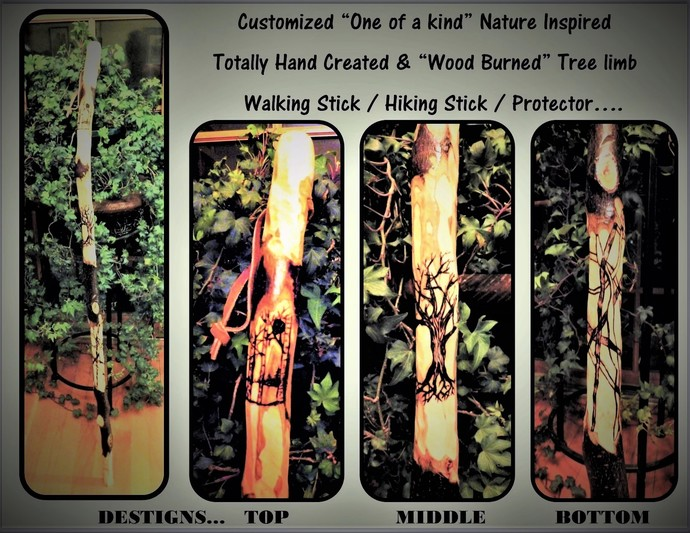 Retirement gift - hiker - walking stick -  hiking stick - wood anniversary gift,