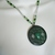 Green Agate Celtic Necklace