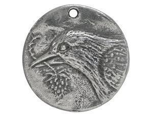 Green Girl Studio Bird Hope Coin Pendant