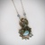 SOLD, Larimar necklace, green sapphire, oregano leaves, one of a kind, herb
