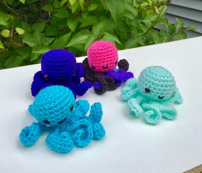 Kawaii Amigurumi Octopus Crochet Pattern - PATTERN ONLY - Instant Download