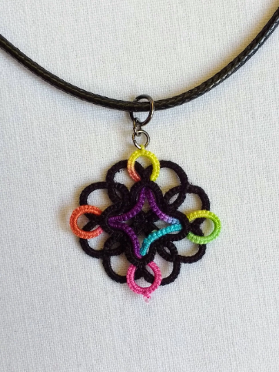 Tatted Celtic Design Lace Pendant