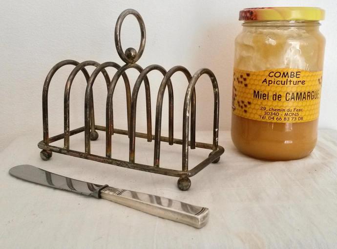 Vintage Toast Rack, Wabi Sabi Kitchen, Vintage Chrome Rack, Old Metal Toast