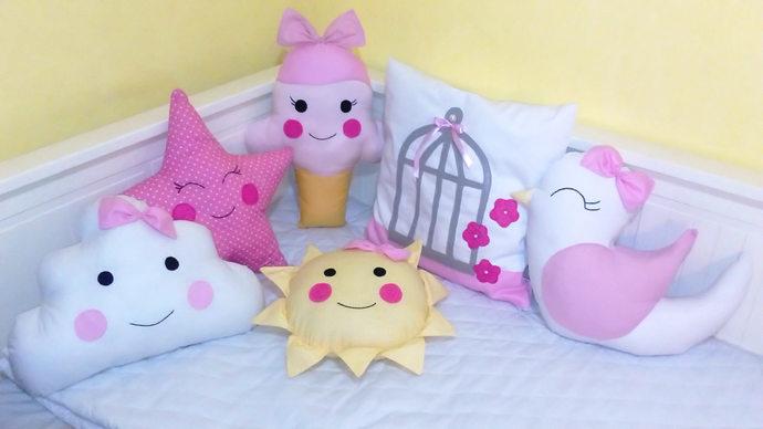 Sweet Ice Cream Crib bumper for newborn baby girl