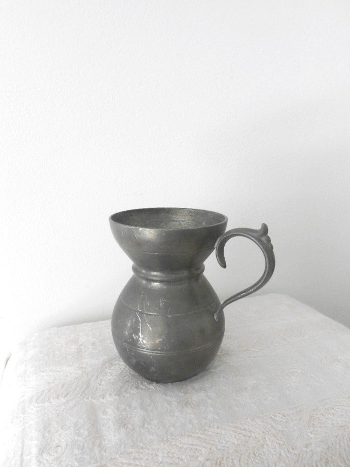 Pewter Vase Small Vintage Vase Od Pewter By Frenchstuff On Zibbet