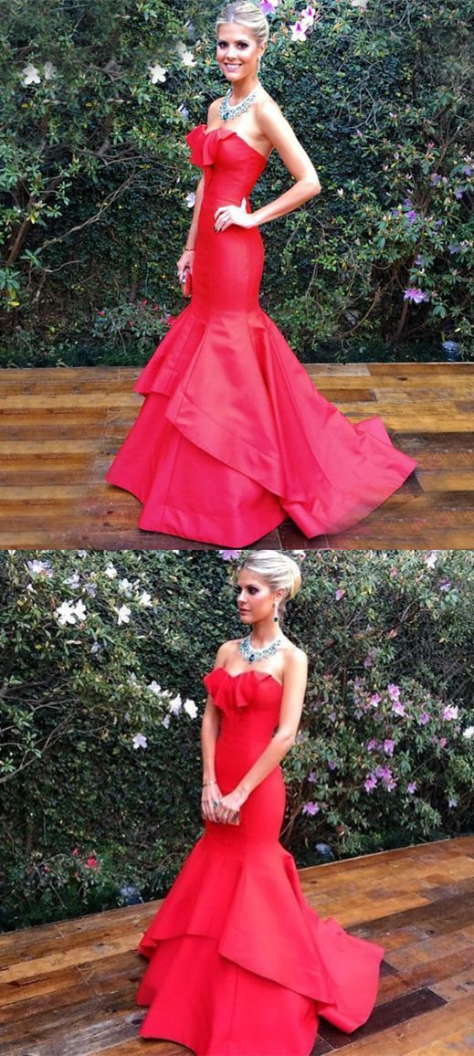 6ed1f847d5 modest strapless mermaid prom dresses BD235 by moddress on Zibbet
