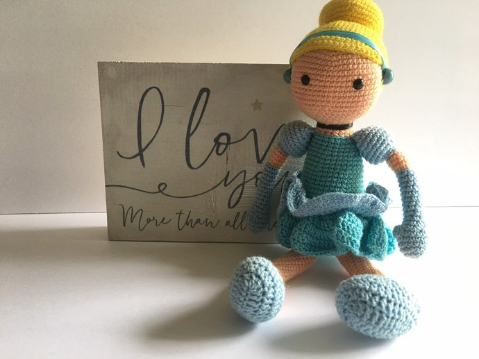 Cinderella Inspired Doll Toddler Crochet Doll By Socutebee On Zibbet
