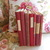 Antique French Red Book Bundle. Shabby Chic Vintage Book Stack of French School