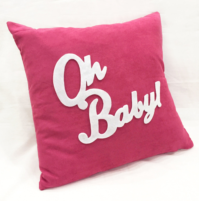 Gender Neutral Mint Baby Gift Set. Oh Baby Decorative Nursery Pillow Cover. Mint