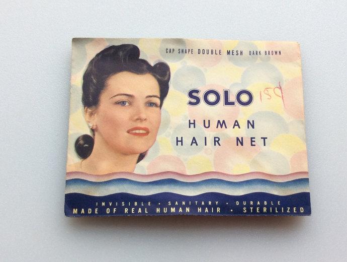 Vintage Solo Human Hair Hair Net Dark brown New Old Stock Unused