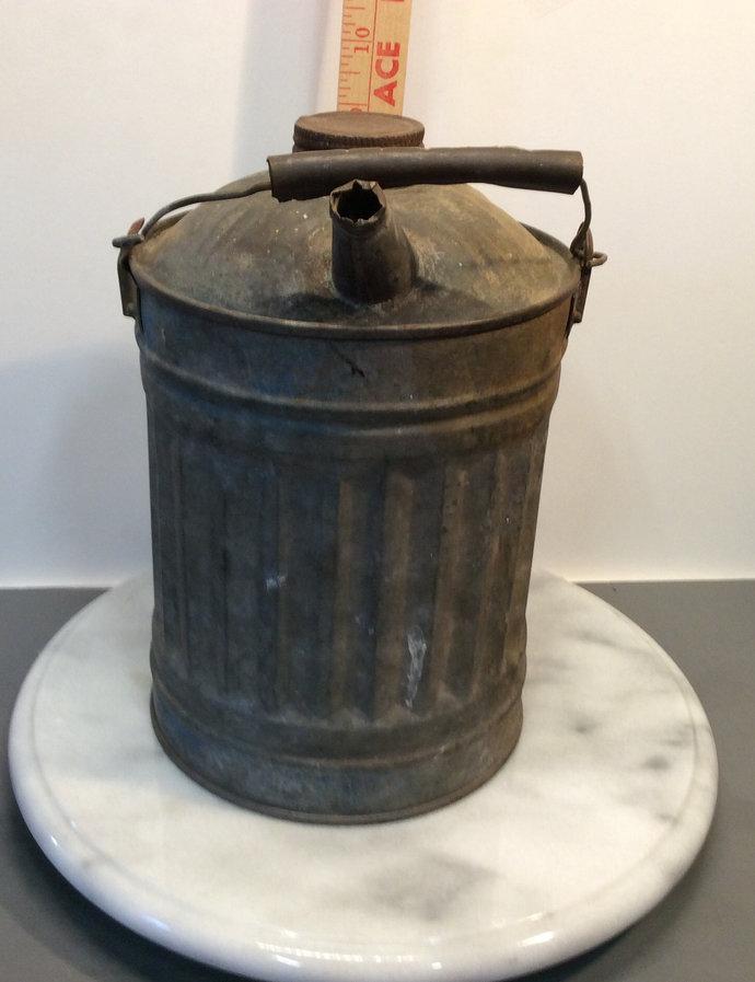 Vintage Galvanized Kerosine Gallon Can