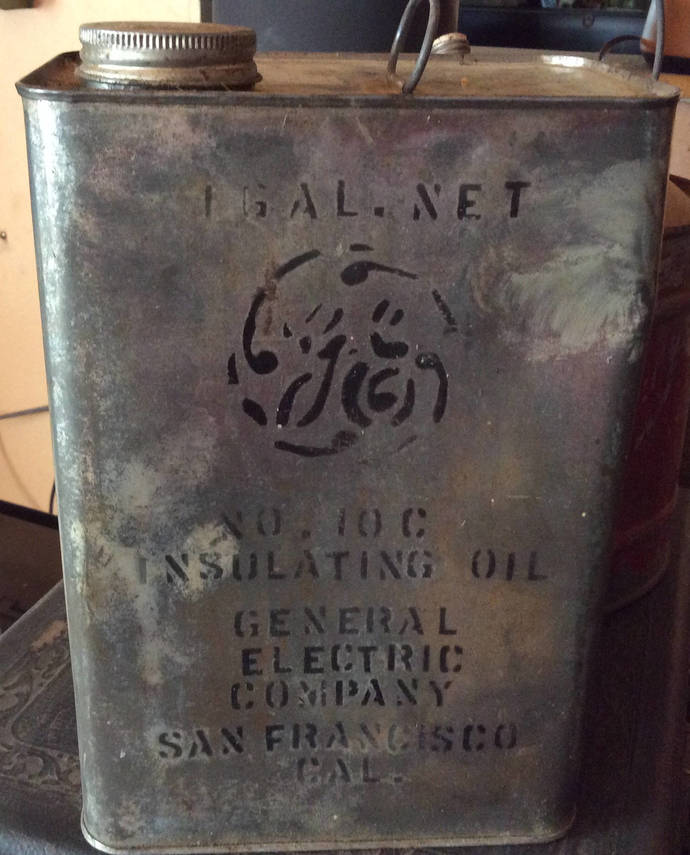 Rare Vintage General Electric Insulating Oil 10C Empty Can
