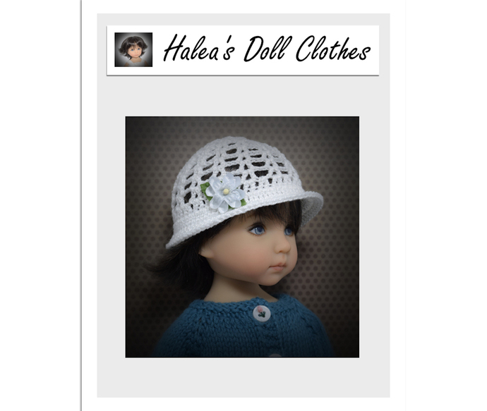 PDF Pattern #LD-11 Crocheted Cloche To Fit Dianna Effner Little Darling 13""