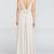 Long V-Back Chiffon Bridesmaid Dress, Sleeveless Floor-Length Bridesmaid Dress