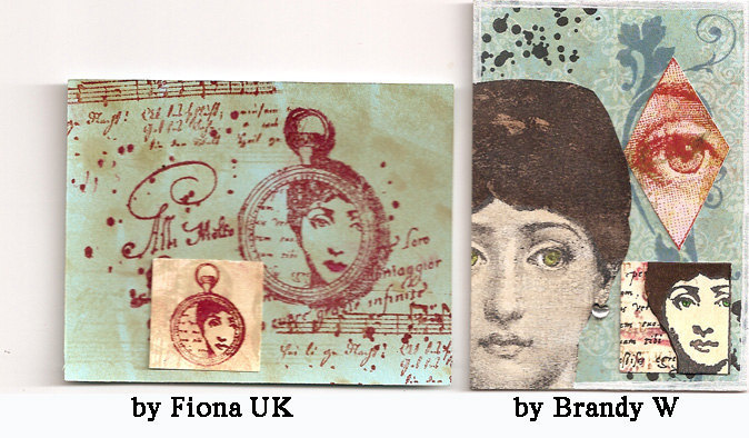 Copy of Woman portrait Julia face- CLING STAMP by Cherry Pie Art Stamps R582
