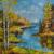 ORIGINAL Ukrainian Russian Oil Modern painting landscape on Canvas, nature