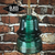LED Glass Insulator Pendant Light - Glass Insulator Pendant Lights - Green