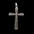 Copy of Vintage Estate Sterling Silver Religious Cross Pendant 3.5g E1137