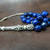 EXPRESS SHIPPING - Silver Turkish Islamic 33 Prayer Beads, Tesbih, Genuine Lapis