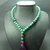 EXPRESS SHIPPING - 108 Mala Beads, Malachite & Lava Stone , Gypsy Jewelry,