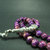 EXPRESS SHIPPING - Turkish Islamic 33 Prayer Beads, Purple Variscite Tesbih,