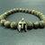 EXPRESS SHIPPING - Cracked Tibetan Agate & Spartan Helmet Bracelet Mens Mala