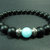 EXPRESS SHIPPING - Matte Onyx & Blue Quartz Bracelet, Mens Mala Bracelet, Womens