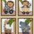 "Copy of  Set of 4 Unframed ""Safari Express Animals"" 8x10 inch Nursery Wall Art"