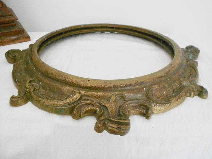 Bronze Frame, Porthole, Large Round Frame, Metal Frame, Solid Bronze, Antique