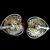 Vintage Vendome Rhinestone Earrings, Double Heart Clip on Earrings