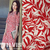Fine leaf print fluff chiffon spring and autumn clothing fabric