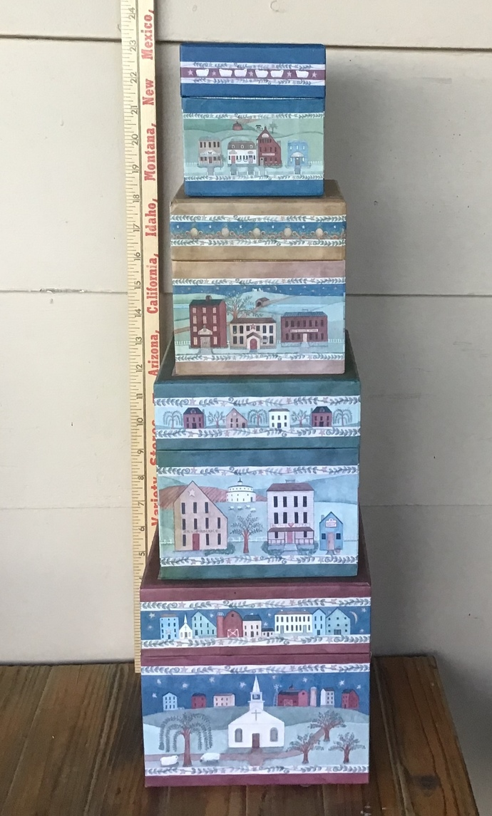 Legacy Stacking Boxes Nesting Boxes Country Americana Village Design