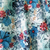 Ethnic style flower print cotton and linen blended fabric