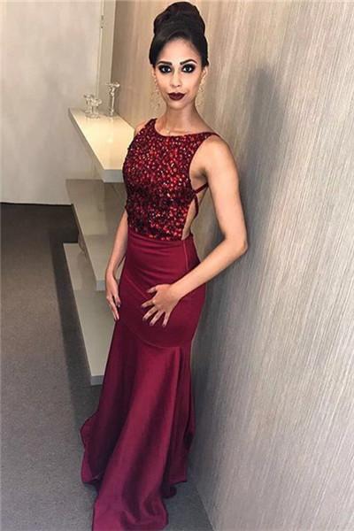88745ce0c28 Burgundy Prom Dress