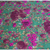 Large flower print cotton and linen blend fabric