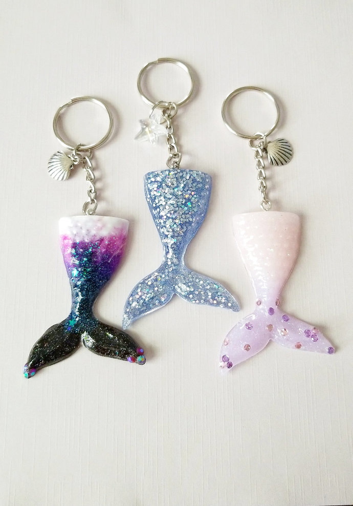 Mermaid Tail Resin Charms