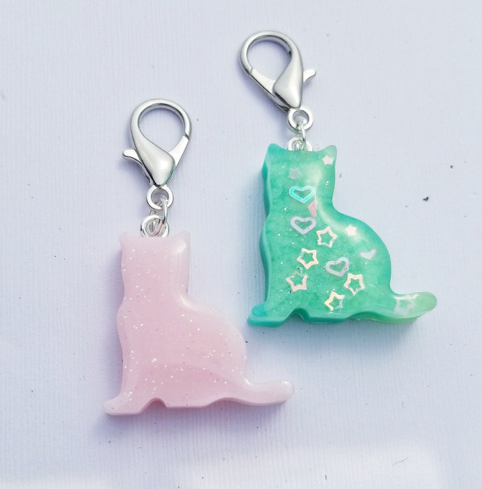 Pastel Cat Resin Planner Charms