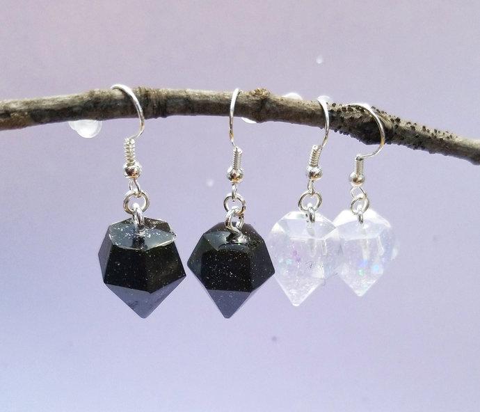 Resin Diamond Earrings