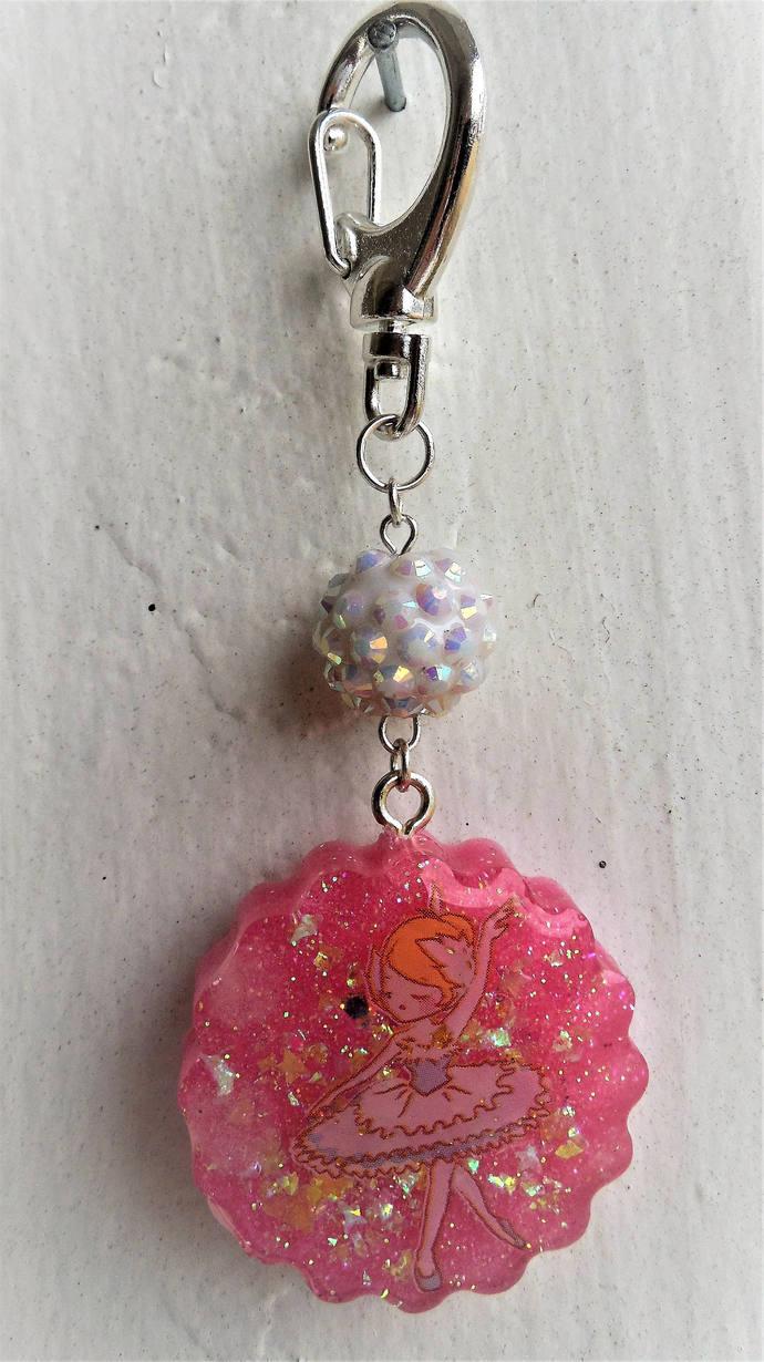 Pink Ballerina Key chain