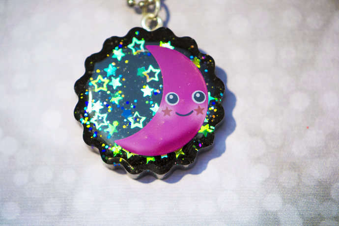 Starry Night Moon Necklace