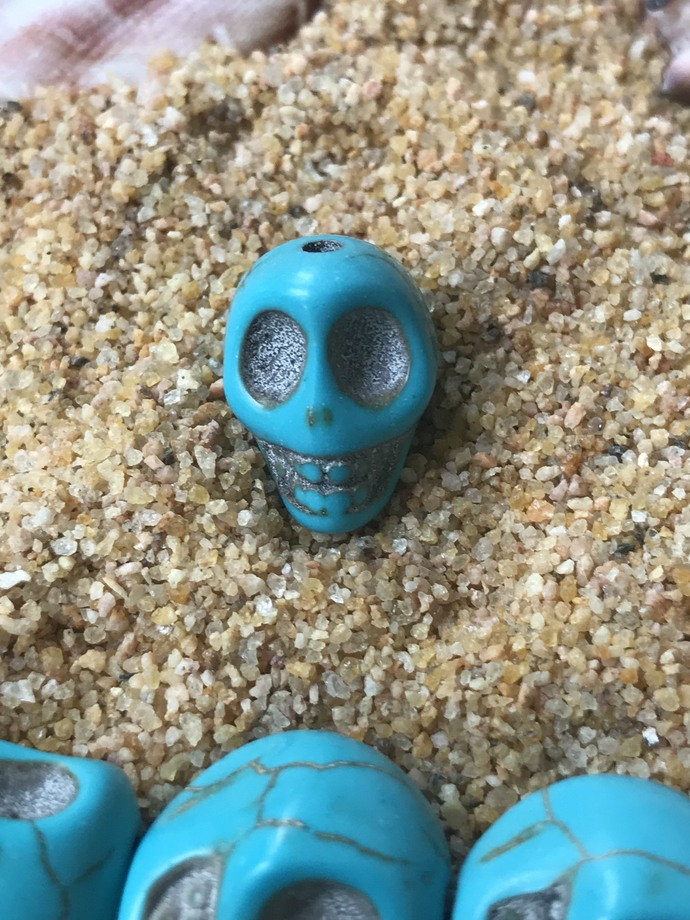 Turquoise Skull Beads for Jewelry Making