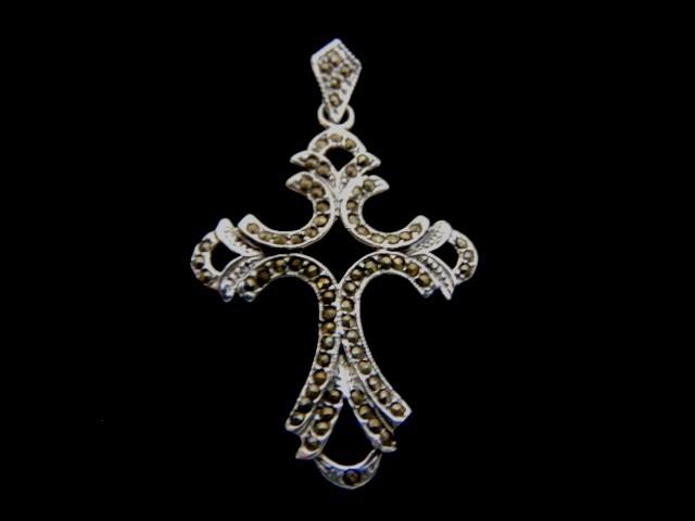 Vintage Estate Sterling Silver Religious Cross Pendant 6.0g E968